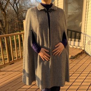 Houndstooth vintage one size cape